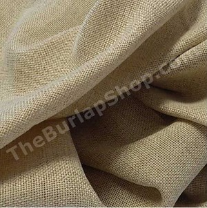 "132"" Round Equinox Faux Burlap Tablecloth"