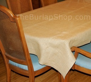 "90"" x 132"" Rectangle Jute Burlap Tablecloth"