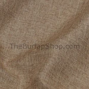 "58"" Round Poly Faux Burlap Tablecloth"