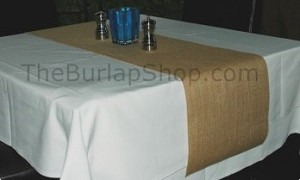 "18"" x 120"" Jute Burlap Table Runner"