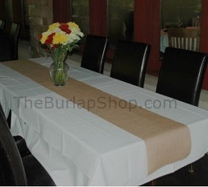 "13"" x 90"" Jute Burlap Table Runner"